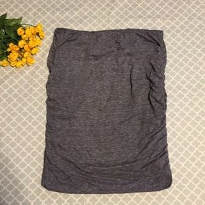 Old Navy Gray Ruched Pencil Skirt L